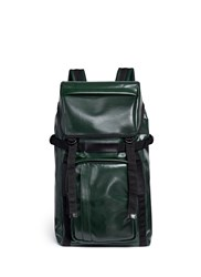 Marni Faux Leather Backpack Green