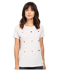 Converse Rubber Easy Crew Tee White Multi Women's T Shirt