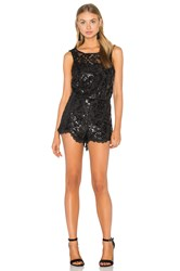 Endless Rose Lace Romper Black