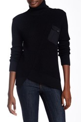 Marc By Marc Jacobs Textured Knit Turtleneck Sweater Black