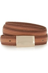 Isabel Marant Ciara Leather Waist Belt Tan