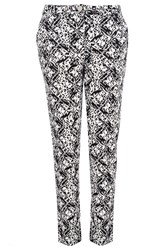 Quiz Black Cotton Print Trouser