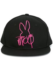 Mcq By Alexander Mcqueen Embroidered Bunny Cap Black