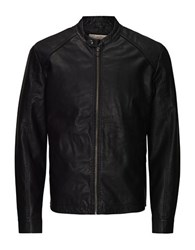 Jack And Jones Original Faux Leather Biker Jacket Black