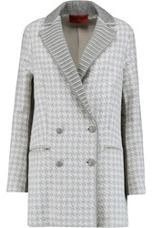 Missoni Paneled Houndstooth Intarsia Wool Blend Coat