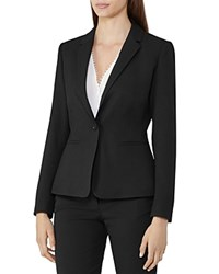 Reiss Hanneli Shirred Back Blazer Black