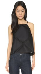Milly Diamond Fil Trapeze Camisole Black