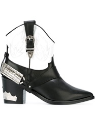 Toga Pulla Texan Ankle Boots Black