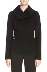 Women's St. John Collection Double Face Wool Blend Jacket Caviar