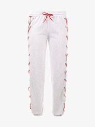 Filles A Papa Sweatpants With Lace Up Sides Grey Multi Coloured