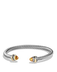 David Yurman Cable Classic Bracelet With Citrine And Gold Silver Gold