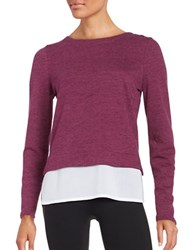 Marc New York Textured Mock Layer Top Ripe Fig