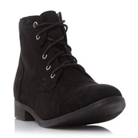 Head Over Heels Paola Lace Up Desert Boots Black