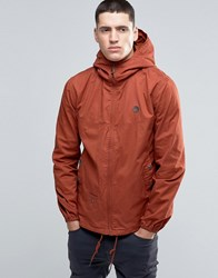 Pretty Green Jacket With Hood In Orange Spice