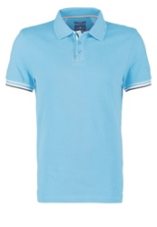 Tom Tailor Fitted Polo Shirt River Blue Turquoise