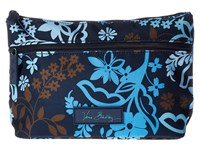 Vera Bradley Lighten Up Travel Cosmetic Java Floral Cosmetic Case Black