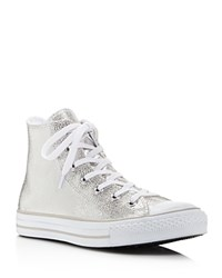 Converse Chuck Taylor All Star Stingray Embossed Metallic High Top Sneakers Silver