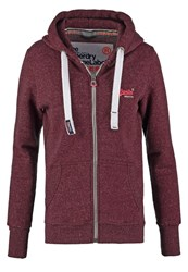 Superdry Tracksuit Top Wine Snowy Bordeaux