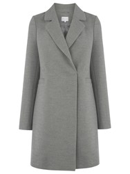 Warehouse Clean Double Breasted Coat Light Grey