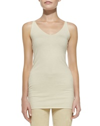 Donna Karan Sleeveless V Neck Tunic Petite