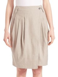 Pauw Pleated Wrap Skirt Beige