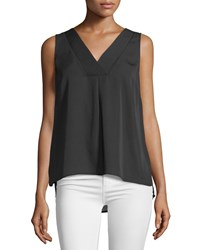 Laundry By Shelli Segal Sleeveless Double Layer Top Black