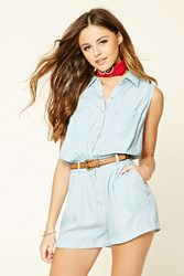 Forever 21 Buttoned Chambray Romper