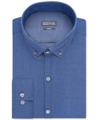 Kenneth Cole Reaction Slim Fit Performance Chambray Solid Dress Shirt