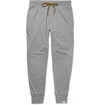 Paul Smith Mith Lim Fit Tapered Melange Cotton Jerey Pyjama Trouer Gray