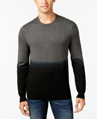 Vince Camuto Men's Dip Dyed Sweater Charcoal