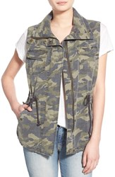 Women's Velvet By Graham And Spencer 'Army' Cotton Vest Camo Multi