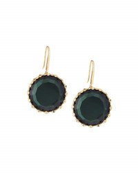 Lana 14K Midnight Round Drop Earrings Green