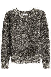 Closed Marled Knit Pullover Black