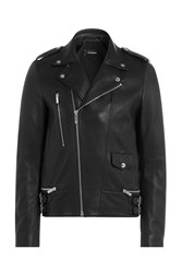 The Kooples Leather Biker Jacket Black
