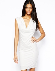 Arrogant Cat Slinky Bodycon Dress White