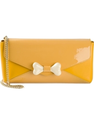 Moschino Cheap And Chic Bone Detail Shoulder Bag Yellow And Orange