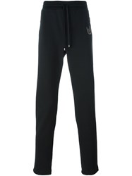 Dolce And Gabbana Embroidered Lucky Patch Track Pants Black