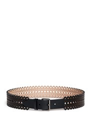 Azzedine Alaia Vienne' Lasercut Mini Leather Belt