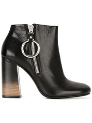 Mcq By Alexander Mcqueen Degrade Heel Ankle Boots Black