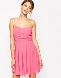 Tfnc Prom Dress In Pleated Chiffon Pink