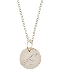 Emily And Ashley Sterling Silver Letter Charm Necklace T