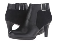 Naturalizer Maureen Black Leather Suede Women's Boots