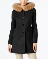 Forecaster Fox Fur Trim Hooded Walker Coat Only At Macy's Black