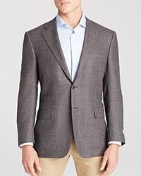 Canali Siena Houndstooth Classic Fit Sport Coat Charcoal Brown