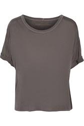 Enza Costa Jersey T Shirt Brown