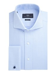 Paul Costelloe Drury Cotton Dobby Weave Shirt Light Blue