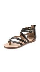 Splendid Caddie Back Zip Grecian Sandals Black