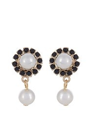 Givenchy Crystal And Pearl Magnetic Earrings