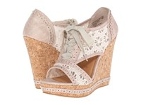 Not Rated Catalonia Cream Women's Wedge Shoes Beige