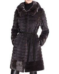 Maximilian Furs Hooded Long Mink Coat 100 Bloomingdale's Exclusive Gray